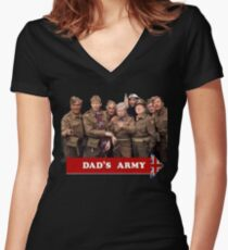Dad's Army Women's Fitted V-Neck T-Shirt