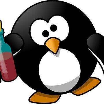 Drunk penguin by JustusHochmund