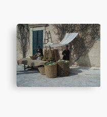 From the past (1 of 4) - Vegetables and Fruit sellers Canvas Print
