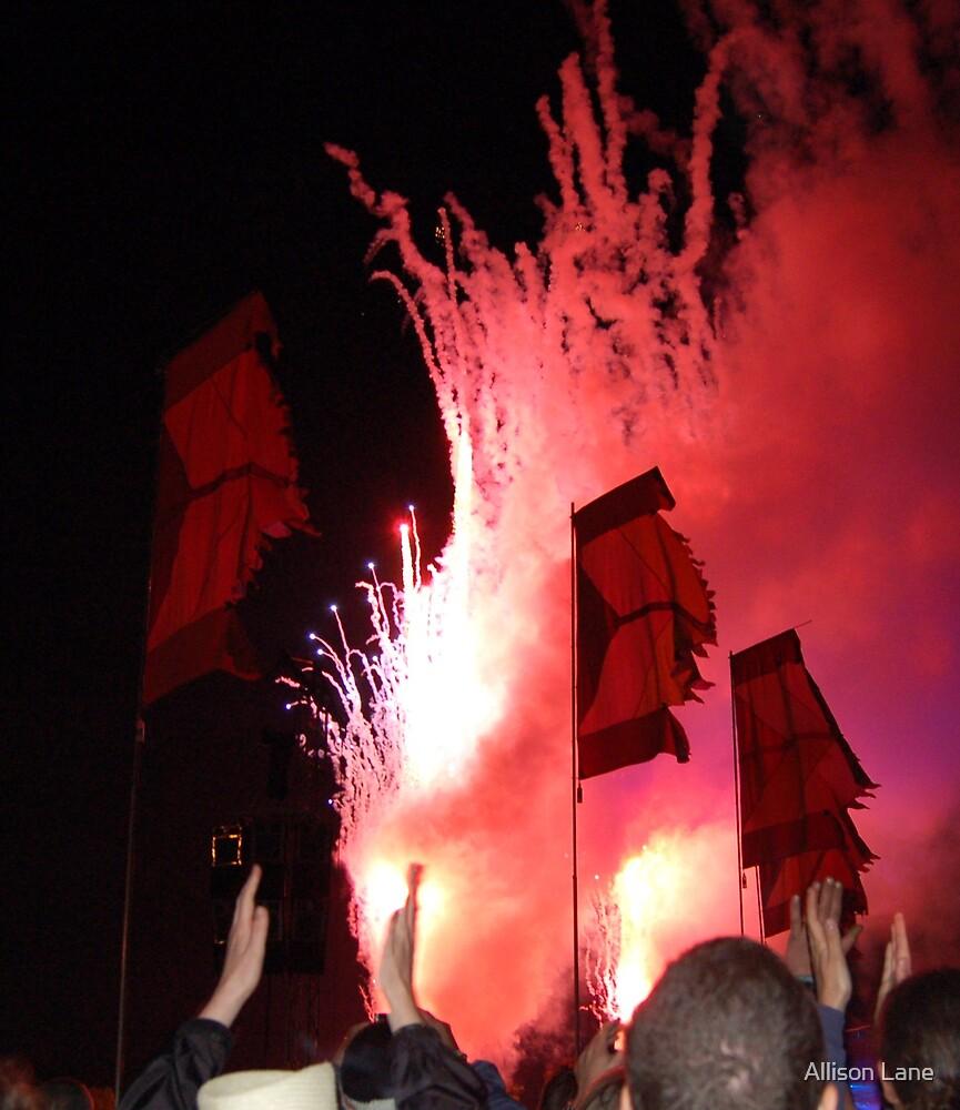Glastonburys Fireworks by Allison Lane