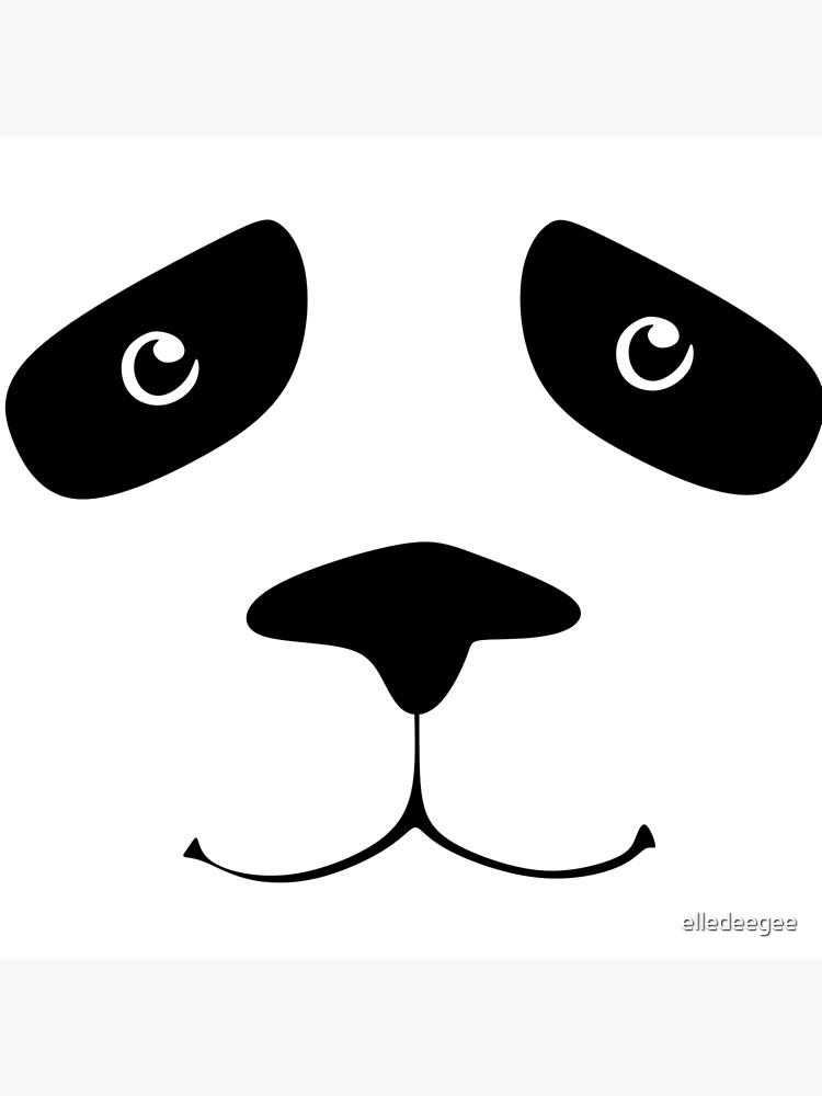 Panda Face by elledeegee