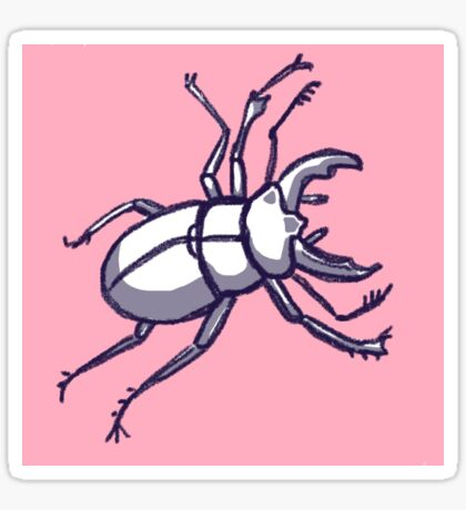 clumsy beetle Sticker
