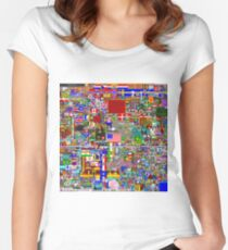 /r/Place 8K resolution Original Print - Final Version Women's Fitted Scoop T-Shirt