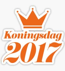 Koningsdag Crown 2017 - King's Day Netherlands Celebration Nederland Sticker