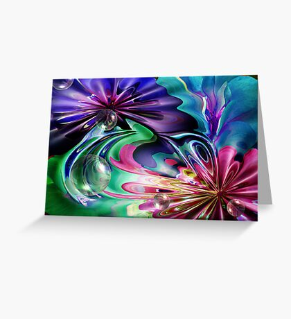 Just Colours and Bubbles Greeting Card