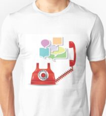 red telephone and speech bubbles Unisex T-Shirt