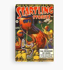 Vintage Startling Stories Pulp Science Fiction Canvas Print