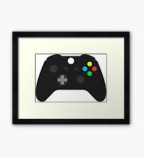 Video Game Console Gamepad Framed Print