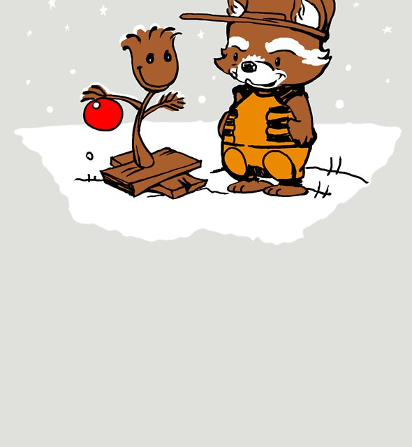 A Groovy Racoon Christmas by jimiyo