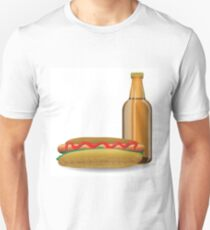 hot dog and bottle of beer Unisex T-Shirt