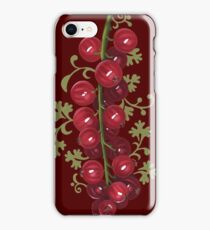 Redcurrant - acrylic painting iPhone Case/Skin
