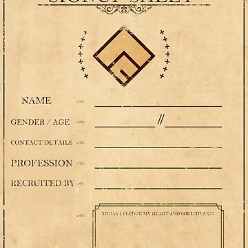 Axis Cult Signup Sheet by Hespen