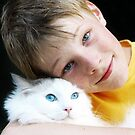 A boy and his cat by Karen Scrimes