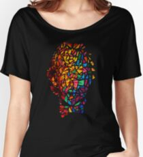 Bill Murray Stained Glass Mosaic Sharpie Marker Art Redbubble Women's Relaxed Fit T-Shirt
