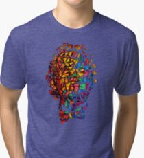 Bill Murray Stained Glass Mosaic Sharpie Marker Art Redbubble Tri-blend T-Shirt