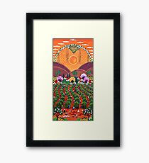 Brazilian Coffee - Afternoon of Work Framed Print