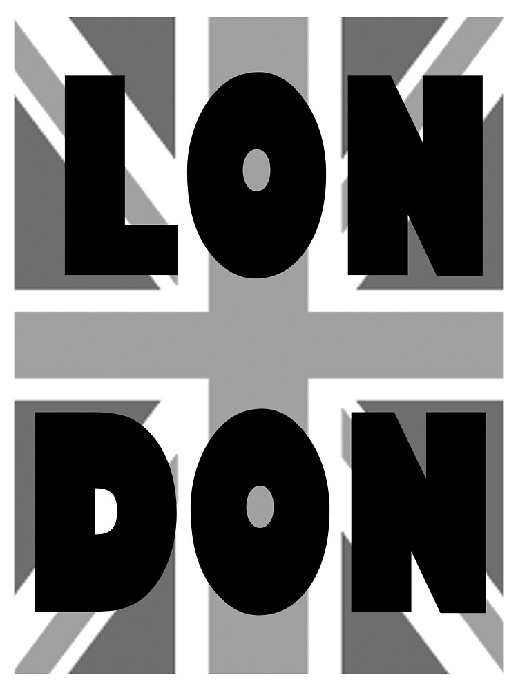 UNION JACK, LONDON, ENGLAND, GREY, BRITISH, GB, UK, by TOM HILL - Designer