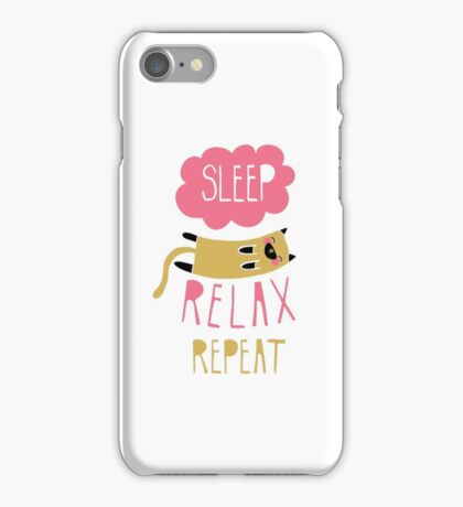 Sleep, Relax, Repeat iPhone Case/Skin