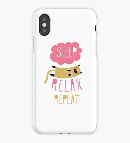 Sleep, Relax, Repeat iPhone Case/Skin