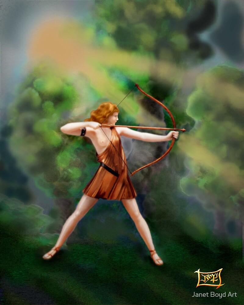 Diana,  the Goddess by Janet Boyd Art