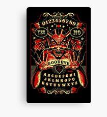 Spirit Board, Lowbrow Punk ,Devil, skulls, Gothic, Skeleton, Bones,evil, occult, pagan,  Canvas Print