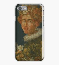 Giuseppe Arcimboldo - Flower Woman iPhone Case/Skin