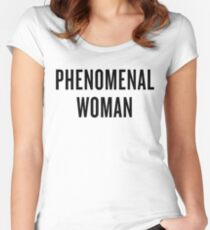 Phenomenal Woman Women's Fitted Scoop T-Shirt