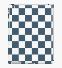 Dusky Blue Checkers Pattern iPad Case/Skin