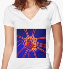 Cartography of the heart Women's Fitted V-Neck T-Shirt