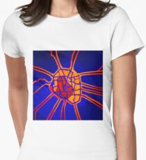 Cartography of the heart Women's Fitted T-Shirt