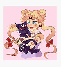 Punk Sailor Moon Photographic Print