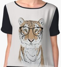 Clever Tiger Chiffon Top
