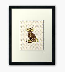 Smart Kitty Framed Print