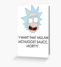 Rick and Morty Design Greeting Card