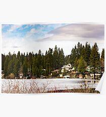 The Community of Davis Lake, Washington, USA Poster