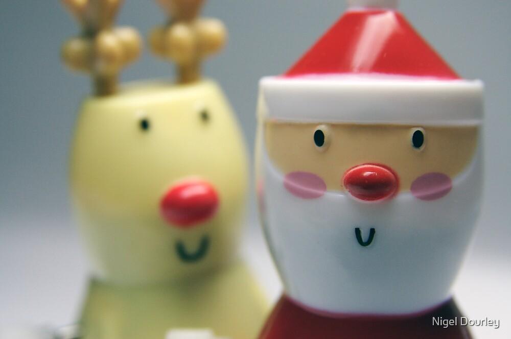 Santa & Rudolph by Nigel Dourley