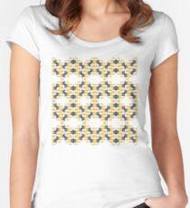 Acrylfarbe trifft digitale Grafik Women's Fitted Scoop T-Shirt