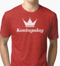 Koningsdag Crown 2017 - King's Day Netherlands Celebration Nederland Tri-blend T-Shirt