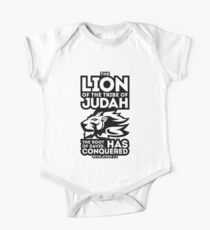 The Lion of the tribe of Judah, the Root of David, has triumphed. One Piece - Short Sleeve