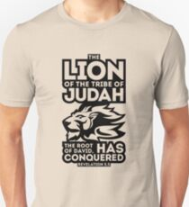 The Lion of the tribe of Judah, the Root of David, has triumphed. Unisex T-Shirt