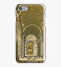 Giovanni Paolo Panini - Interior Of St. Peter S, Rome iPhone Case/Skin