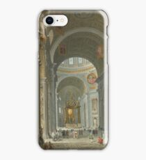 Giovanni Paolo Panini - Interior Of Saint Peters, Rome iPhone Case/Skin