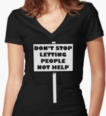 """Impractical Jokers """"Don't stop letting people not help"""" Women's Fitted V-Neck T-Shirt"""