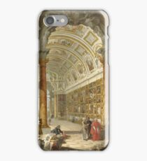 Giovanni Paolo Panini - Interior Of A Picture Gallery With The Collection Of Cardinal Silvio Valenti Gonzaga iPhone Case/Skin