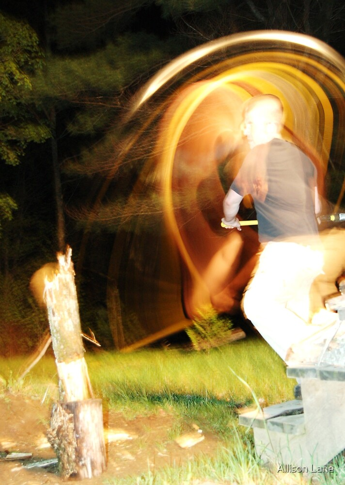 Chopping Wood by Allison Lane