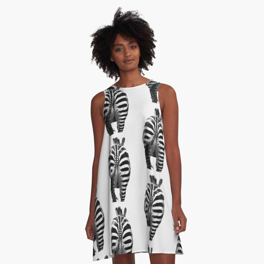Zebra 07 A-Linien Kleid Vorne