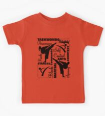 Taekwondo Martial Arts Terminology Typography Kids Tee