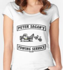 Peter Sagan's Towing Service Women's Fitted Scoop T-Shirt
