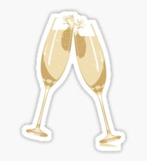 Champagne Glasses Sticker