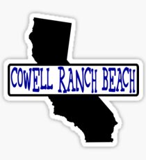 Cowell Ranch Beach California Sticker